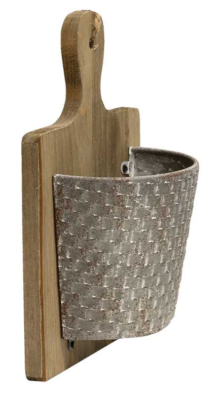 Hanging Cutting Board With Metal Basket
