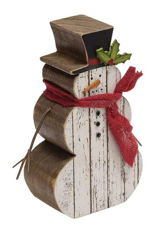 Slat Wood Holly Jolly Snowman 6 Quot