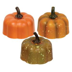 Pumpkin Tealight - 3 assorted - # 84661