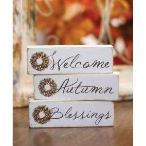 {[en]:Welcome, Autumn, Blessings Block, 3 asst. -