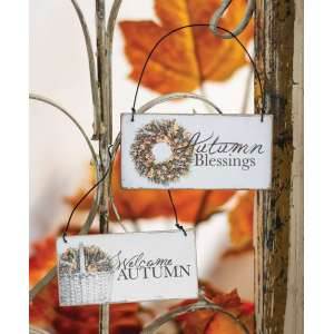 Autumn Blessings Ornament - 2 asst. - # 90732