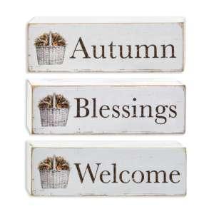 {[en]:Welcome, Autumn, Blessings Block, 3 asst -