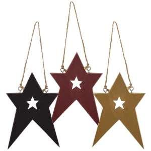 Folk Star Ornament w/Star Cutout - # 32967