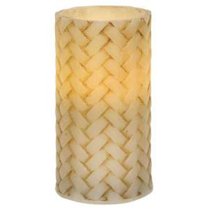 "Basketweave Pillar Candle - 5"" #84724"