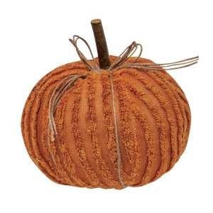 "#CS375101 Chenille Pumpkin 6"" Orange"