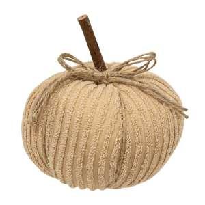 "#CS375102 Chenille Pumpkin 6"" Cream"