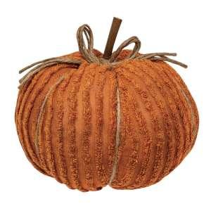 "CS375111 Chenille Pumpkin 8"" Orange"