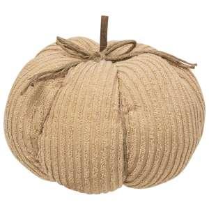 "#CS375122 Chenille Pumpkin 9.5"" Cream"