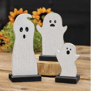 Wooden Ghosts - Set of 3 - # 34506