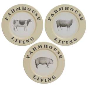 Farmhouse Living Animal Print Plate - 3 asst - # 34598