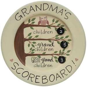 Grandma's Scoreboard Plate - # 34756