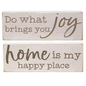 Home is my Happy Place Rectangle Block - 2 asst - # 34782