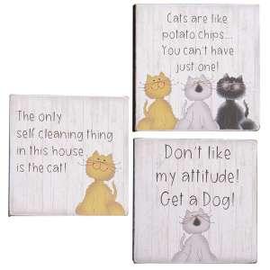 Cat Attitude Block - 3 asst - # 34808