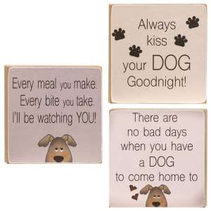Always Kiss Your Dog Goodnight Block - 3 asst - # 34809