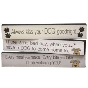 Always Kiss Your Dog Goodnight Mini Sticks - 3 asst - # 34819