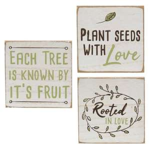 Rooted in Love Square Block - 3 asst - #34832
