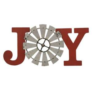 Joy Windmill Metal Plaque - 70034
