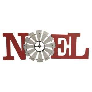 Noel Windmill Metal Plaque - 70035