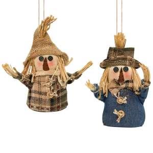 Scarecrow Ornaments - 2 asst - # CS37394