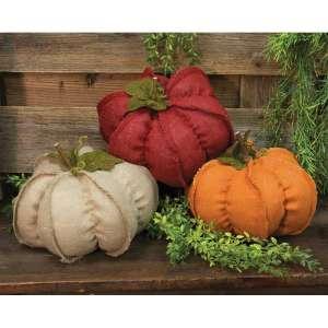Fabric Pumpkins - Large - 3 asst - # CS37391