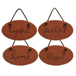 Home, Hopeful, Faithful, Blessed Resin Ornament - 13123