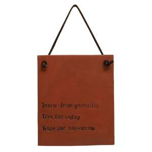 Live For Today Resin Sign - 13124