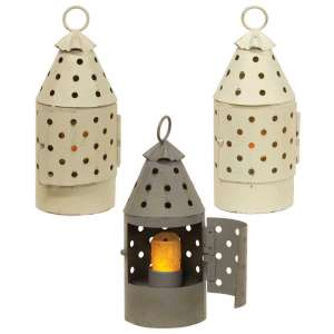 Mini Railroad Lantern - Farmhouse Colors - 3 asst - # 46356