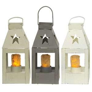 Mini Star Lanterns - Farmhouse Colors - 3 asst - # 46357
