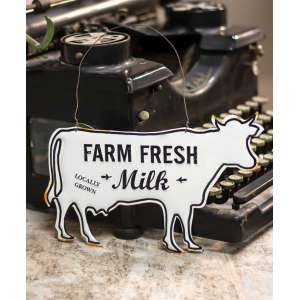 Farm Fresh Milk Enamel Ornament #60192