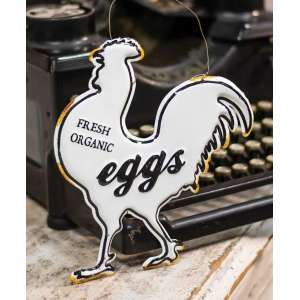 Fresh Eggs Enamel Ornament #60193