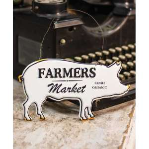 Farmers Market Enamel Ornament #60194