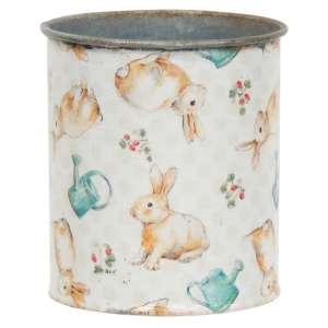 Vintage Bunny Metal Can - # 60295