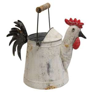 Metal Rooster Watering Can - # 60297
