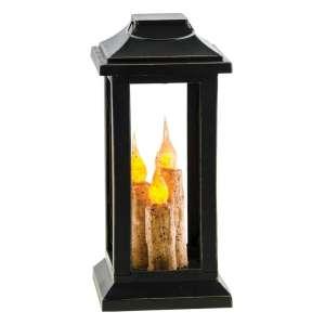 Burnt Ivory 3-Taper Lantern, 10 inch - # 84640