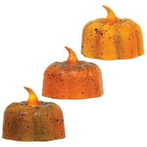 Grungy Pumpkin Tealight - 3 asst - # 84815