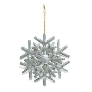 Metal Snowflake with Jute Rope - 90759