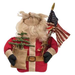 Patriotic Santa Doll - CS37546