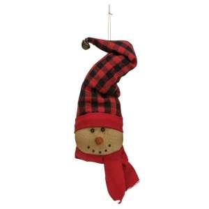 Buffalo Check Snowman Ornament - CS37586