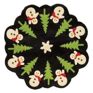 Snowman and Christmas Tree Felt Mat - # CS37652