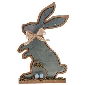 Metal Bunny Plaque - # G90253