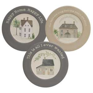 Happy Home Happy Life Plates - 3 asst - # 34785