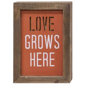 Love Grows Here Framed Cutout Sign - #34862