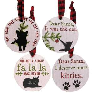 The Cat Christmas Tags - Set of 4 - # 35001