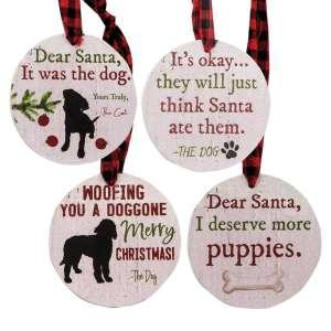 The Dog Christmas Tags - Set of 4 - # 35002