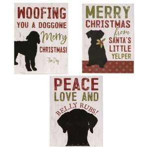 The Dog Christmas Box Signs - 3 Asst - # 35003
