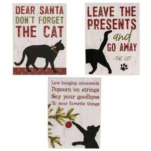 The Cat Christmas Box Signs - 3 Asst - # 35004