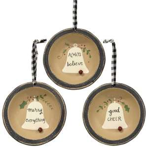 Always Believe Dish Ornaments - 3 Asst - # 35074