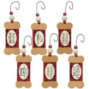 Dog Treat Christmas Ornaments - 6 Asst - # 35111