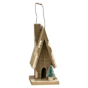 Primitive Town Snowy A-Frame - # 35139