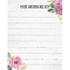 Maybe Swearing Notepad - # 50046